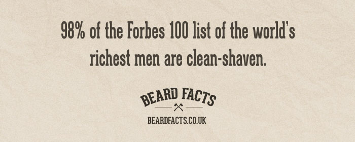 BeardFact #17 - 98% of the Forbes 100 list of the...