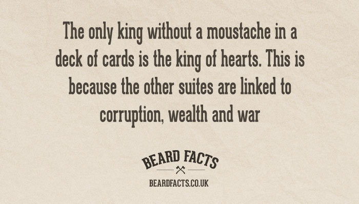 BeardFact #23 - The only king without...
